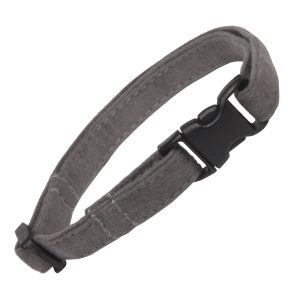 Cat Collar Grey Faux Suede