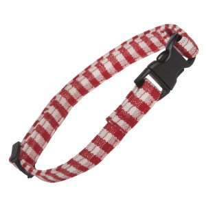 Red Gingham Cat Collar