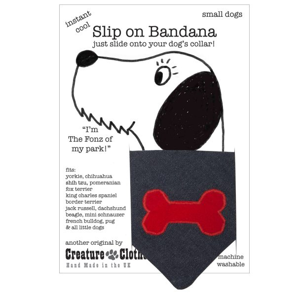 Slip on bandana-red bone on denim