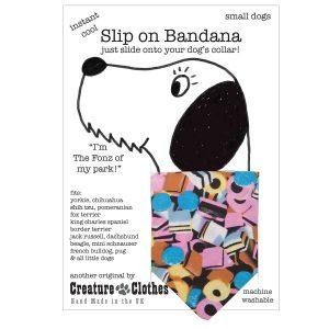 Slip on Dog bandana Sweeties