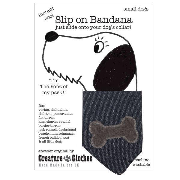 Slip on Bandana grey bone on denim