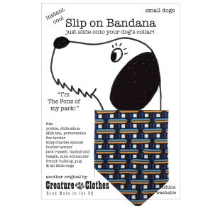 Slip on Dog Bandana Geometric