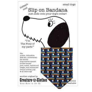 Slip on Dog Bandana Geometric