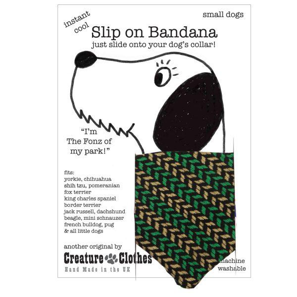 Slip on dog bandana Wimbledon