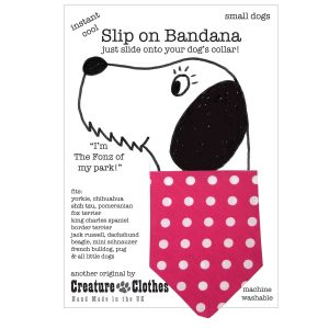 Slip on dog bandana dotty pink