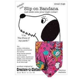 Slip on dog Bandana cartoon pink