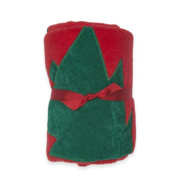 Fur Friends Christmas Tree Fleece Dog Blanket