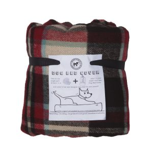 Eco Dog Bed Cover in Cowboy Check Design