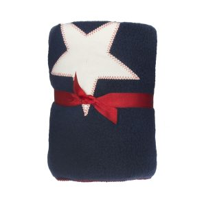 Royal Blue Star Fur Friend Fleecy Dog Blanket