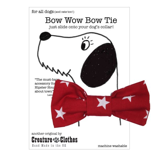 Red Star Slip On Bow Tie