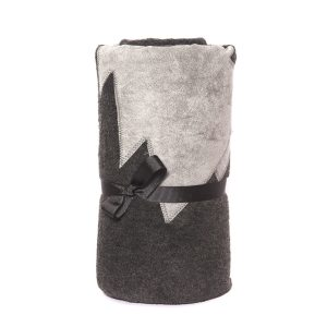 Fur Friend Grey Tree on Charcoal Fleece Dog Blanket