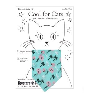 Cat Bandana in Flamingo Print