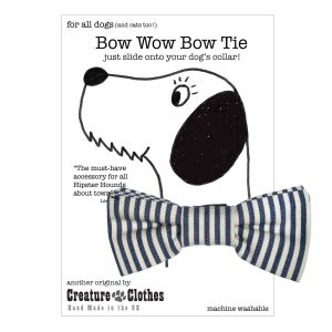 Breton Strip Slip on Dog Bow Tie