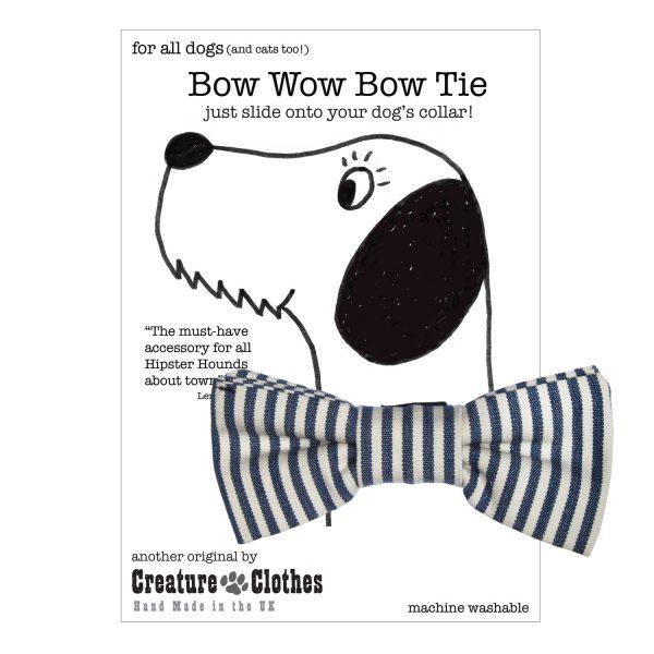 Breton Strip Slip on Dog Bow Tie