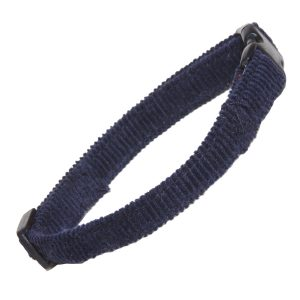 Navy Corduroy Cat Collar