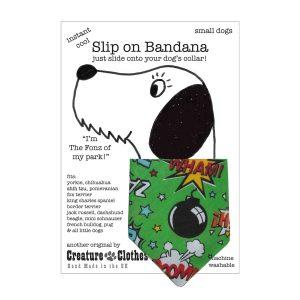 Slip on Dog Bandana Lime Bomb