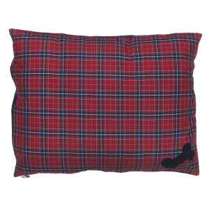 Dog Doza Bed Red Tartan