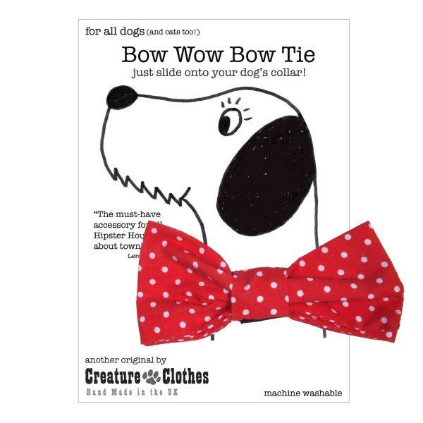 Polkadot Dog Bow tie