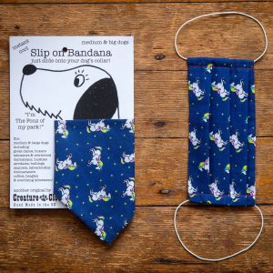 Unicorns Design Face Mask & Matching Dog Bandana