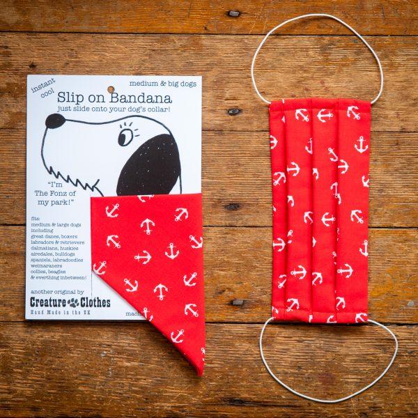 Mini Stars - Face Mask & Matching Dog Bandana