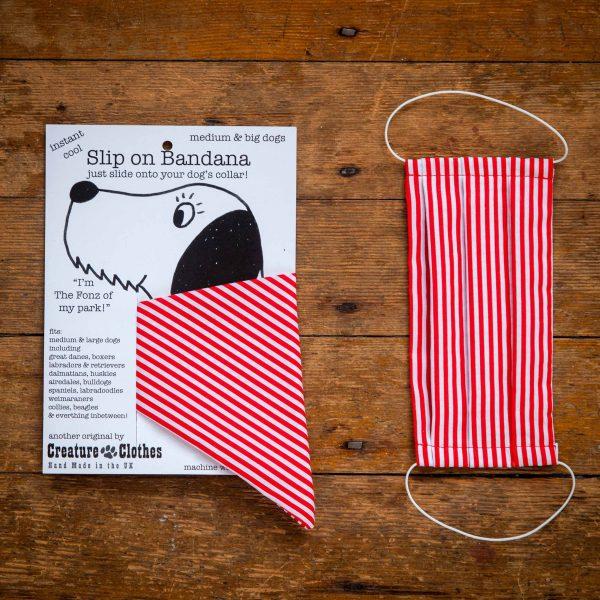 Candy Stripe - Face Mask & Matching Dog Bandana