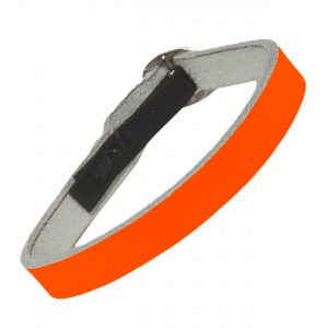 Cat Collar Neon Orange Leather