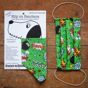 Lime Bomb Design Face Mask & Matching Dog Bandana