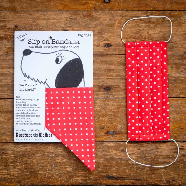 Polka Dot - Face Mask & Matching Dog Bandana