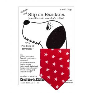 Little White Stars on Red Slip on Dog Bandana