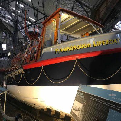 RNLI historic lifeboats at Chatham Historic Dockyard