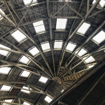 The stunning roof at The Big Space - Dock 3 at Chatham